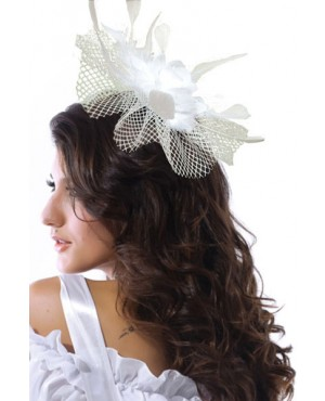 Exquisite White Chiffon Flowers,Hot Hawaii Mini Top-hat