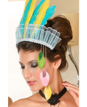 Gorgeous Color Feather Hair Hoop