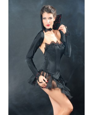 Black Devil Vampire Queen Costume Set