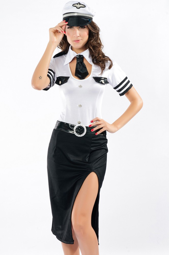 Mile high pilot costume for women