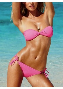Glam Stylish Rose Pink Push-up Bikini Set
