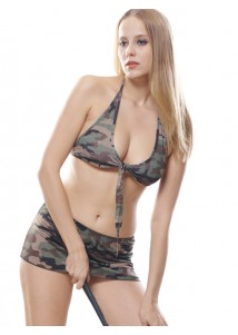 Jungle Style Bra and Mini Skirt