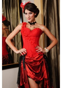 Red Corset with Floral Design