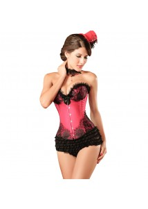 Cinching Satin Bustier Red