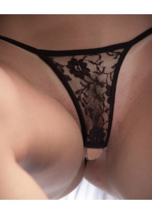 Crotchless Lace G-Strings