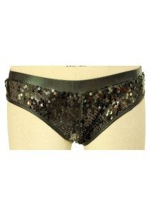 Scrunch Sequin Panty Black