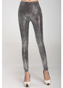 Wet-look Metallic Legging Silver