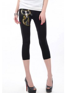 Sequin Kitty Short Legging