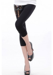 Sequin Owl Short Legging