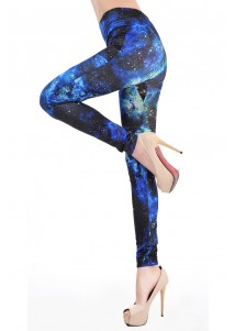 Black And Blue Galaxy Legging