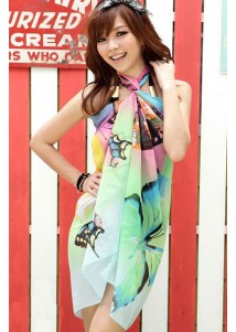 Color Butterfly Sarong