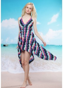 Halter Hilo Hem Beach Cover-up