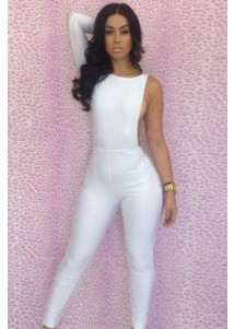 Sexy clothes fashion White One-sleeve Party Playsuit