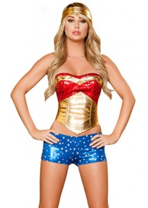 Sexy 3 PC Wonder Heroine Costume