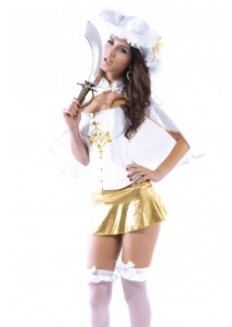 Royal Musketeer corset costume
