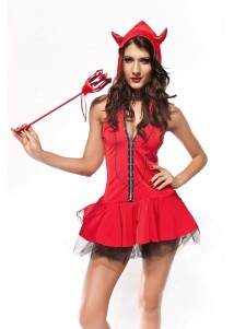 Red Devil Girl Costume