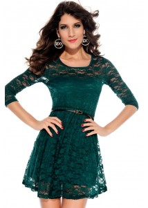 Lace Ballet Dress with Belt Jasper