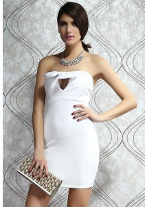 Graceful Evening Dress with Bow