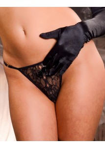 Thin Floral Lace Crotchless G-String