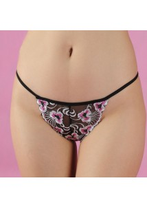 Flower embroidery G-string
