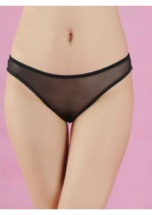 Sexy Black back hollow-out Briefs