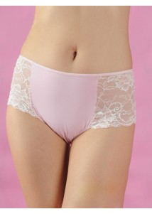 Pink boyshorts with lace side