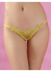 Sexy yellow G-string