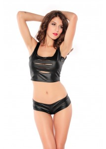 Energetic Shredded Top and Panty Set