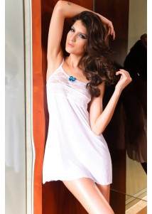 Pure Sexy ladies fashionable white dress ladies sexy transparent babydoll