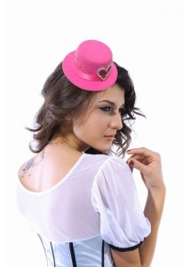 Charming Rose Mini Hat With Color Rhinestone
