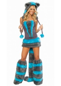 Cutie Cheshire Cat Corset Costume Set