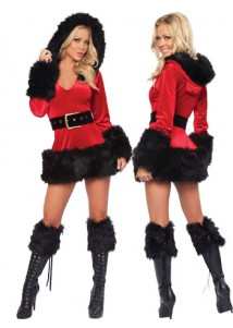 Nifty Fancy Sexy Christmas Costume Black and red