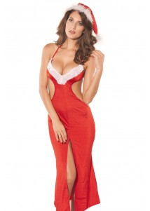 Elegant Sexy Mrs Claus Christmas Gown