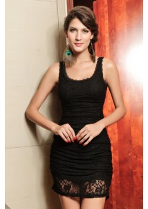 Bewitching Lace Tank Dress