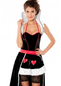 Deluxe Elegant Heartless Queen Costume Dress