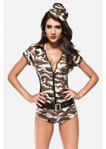 US Army Hot Panty Overall Costume