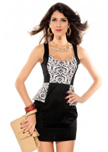 Black Adela Fashion Dress