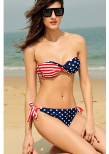 Sexy Star Stripe Bikini Swimsuit