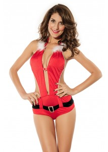 Sexy Santa One-piece Hooded Christmas Costumes