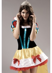 Wonderland Cartoon Pattern Alice Cosplay Costume