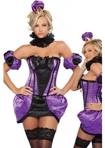 5-Piece Royal Purple Princess Party Costume