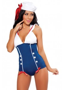 Alluring Pin Up Sailor Cosplay Lingerie