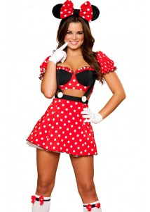 Sexy Miss Mouse Costume Set
