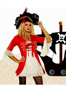 Sexy Red Pirate Cosplay Costume
