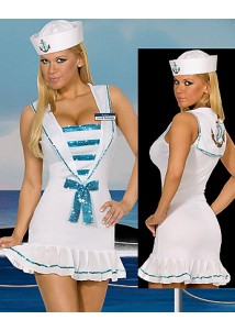 Sexy White Dress Sailor Costume