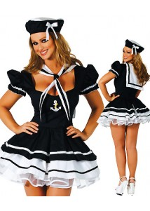 Black Sexy Sailor Girl Costume