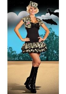 Camouflage Charming Police Lady Costume