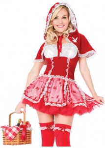 Red Cute Maid Girl Cosplay Costume