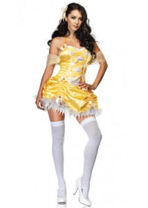 Charming Yellow Sexy Party Queen Holloween Costume