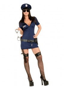 Hot Police Officer Sexy Lady Costume Set